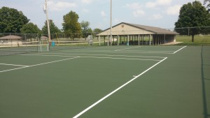 finished tennis courts